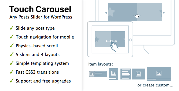 TouchCarousel - Posts Content Slider for WordPress - CodeCanyon Item for Sale