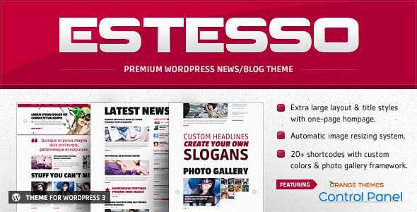 Estesso - Modern Experimental WordPress Theme - ThemeForest Item for Sale
