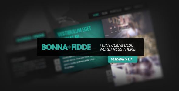 Bonna Fidde - Portfolio & Blog WordPress Theme  - ThemeForest Item for Sale