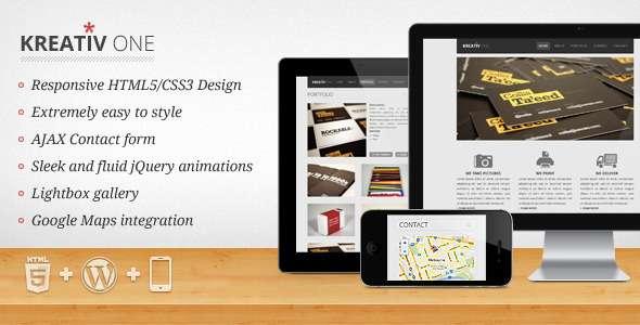 Kreativ One - Responsive WP OnePage Portfolio - ThemeForest Item for Sale