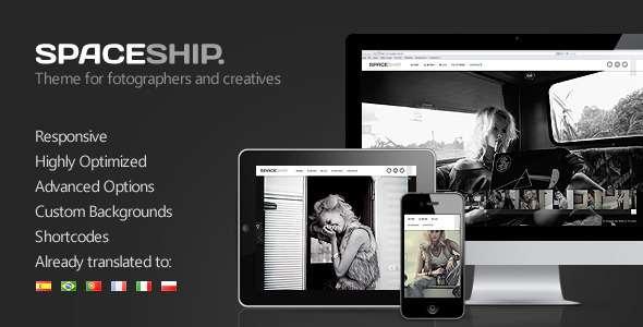 Spaceship - Minimalist Photography Portfolio Theme - ThemeForest Item for Sale