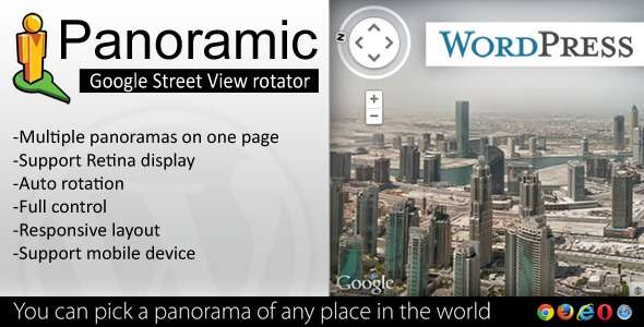 Panoramic - Google Street View Rotator for WP - CodeCanyon Item for Sale