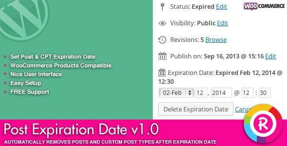 Post Expiration Date - CodeCanyon Item for Sale