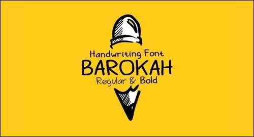 Barokah Free Handwritten Font Download image