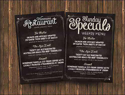 Best free photoshop psd flyer templates for Free menu templates