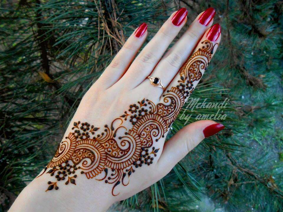 Decent Romantic Mehndi Designs 2014jpg 960720