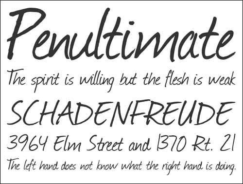 Journal Free Handwirtten Font image