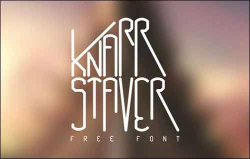 Knarrstaver Free Font image