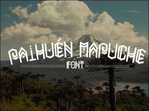 Paihuen Mapuche Free Font image