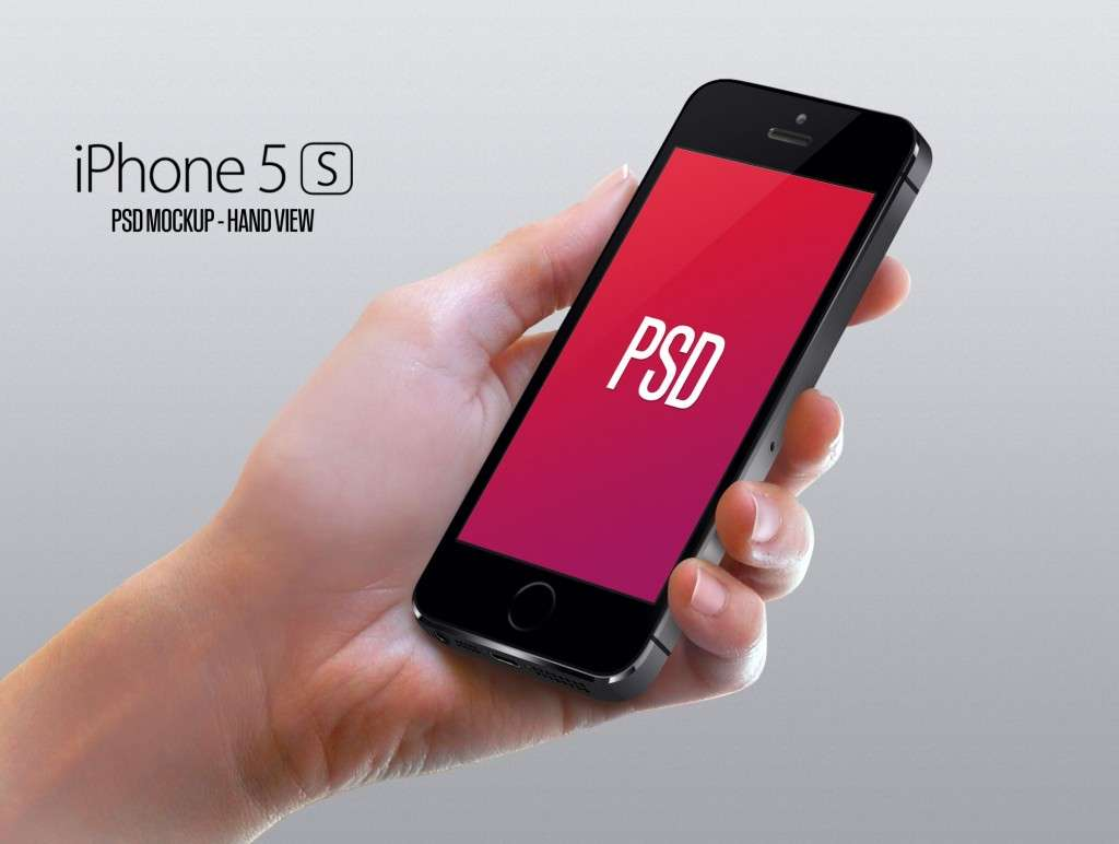 Female Hand iPhone 5S PSD Mockup