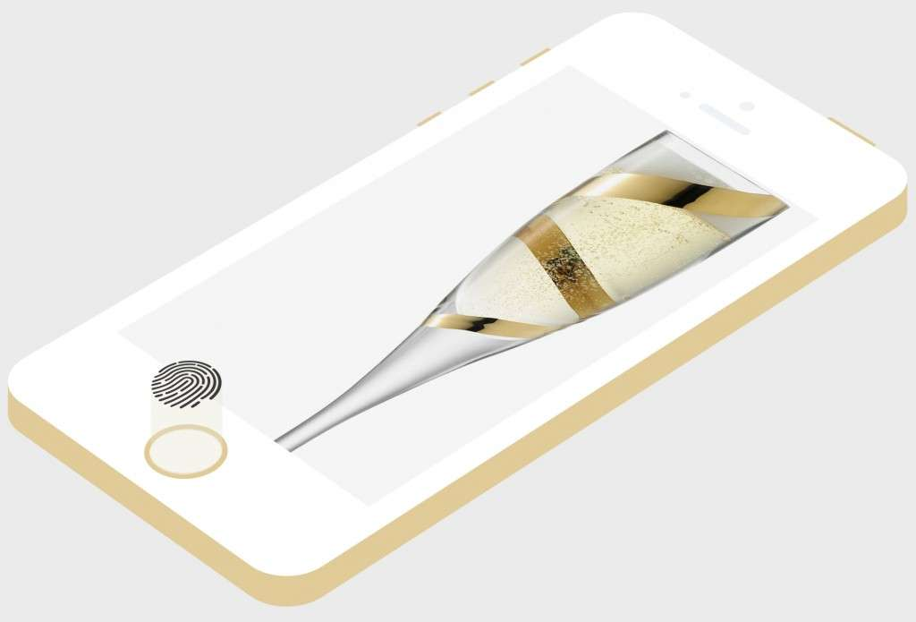 Flat Gold Champagne iPhone 5S Finder Print Sensor Icon