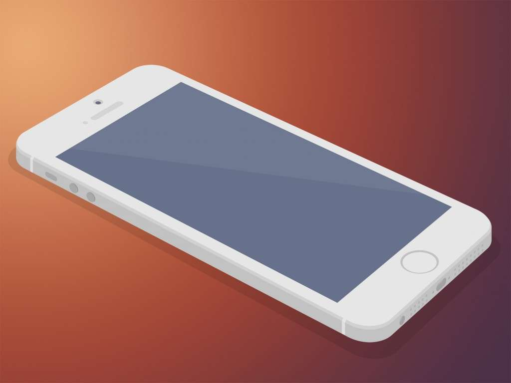 Apple iPhone 5 PSD Mockup