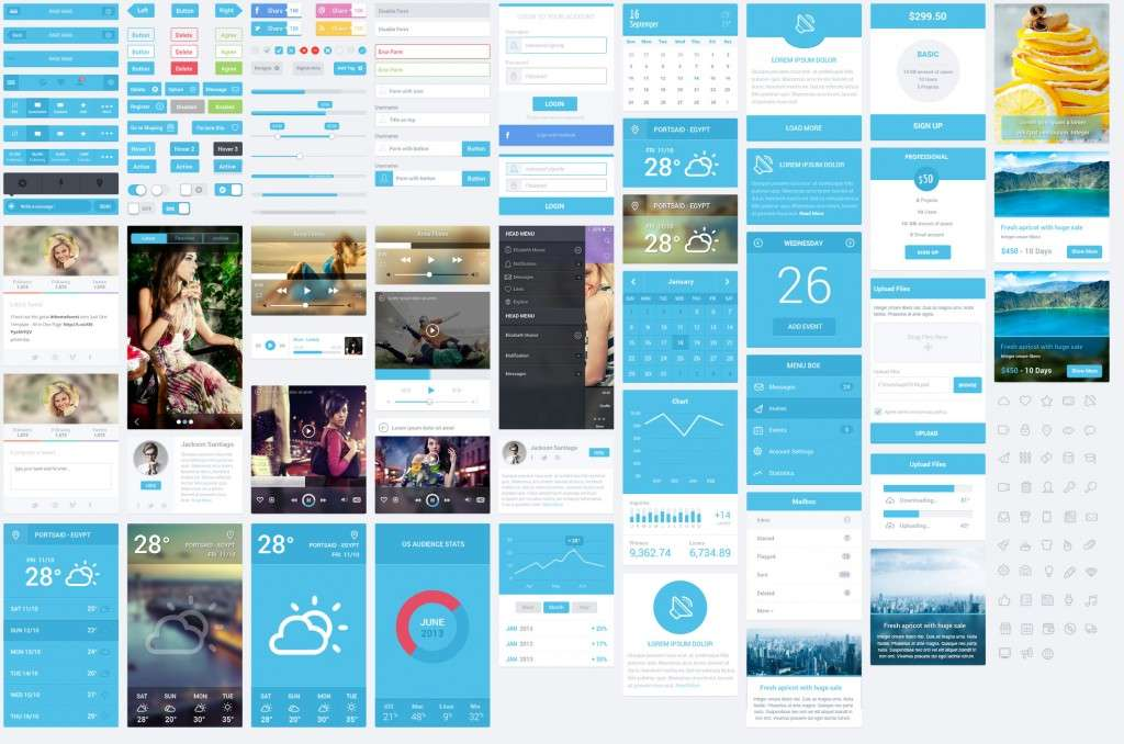 Flatastic Mobile UI Kit mockup preview