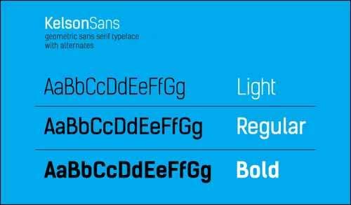 free fonts kelson sans image