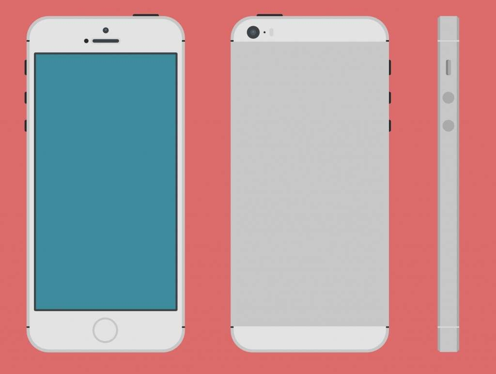 iPhone 5S Vector PSD Mockups
