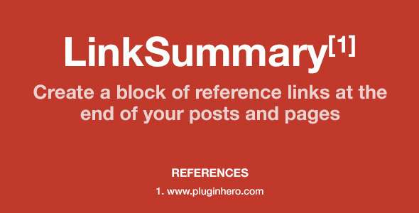 LinkSummary - Add Reference Links to Pages/Posts - CodeCanyon Item for Sale