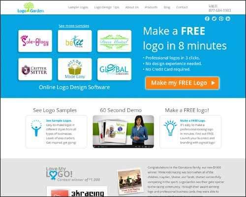 Top best free create logo maker generators online for Garden maker online