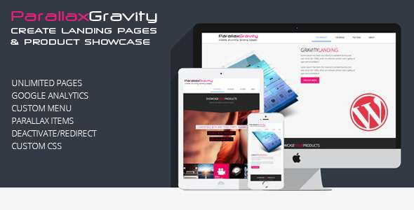 Parallax Gravity - Landing Page Builder - CodeCanyon Item for Sale