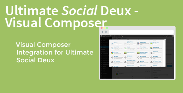 Ultimate Social Deux - Visual Composer - CodeCanyon Item for Sale