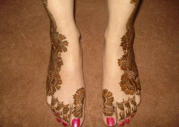 Mehndi Designs Feet Arabic : Henna designs for feet latest mehandi design pictures