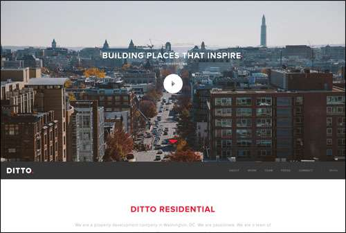 Ditto Residential Flat Web Design Example image