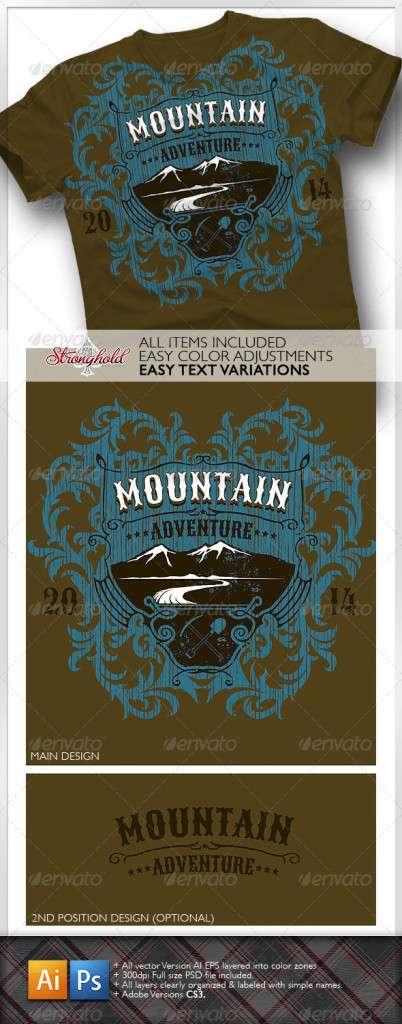Mountain Adventure T-shirt Event Template - T-Shirts