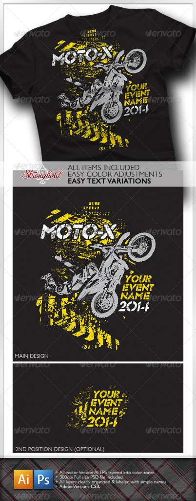Moto X Team T-Shirt Template - Sports & Teams T-Shirts
