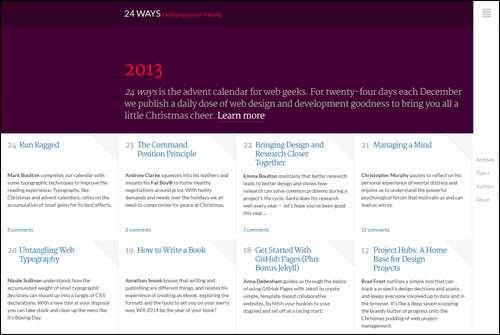 Flat Webdesign Example   24Ways image