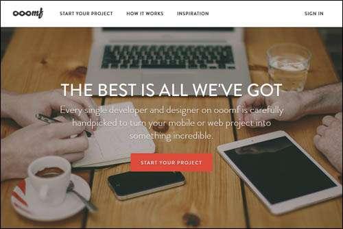 Flat Webdesign Example   ooomf image