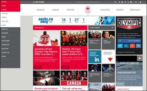Flat Webdesign Example Olympic image