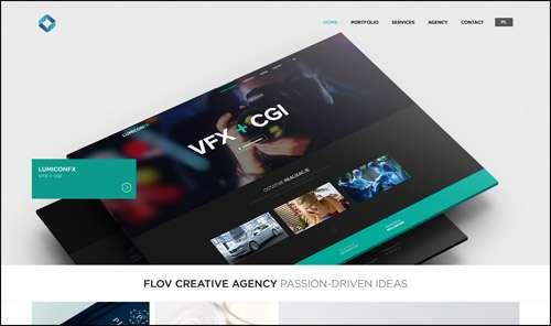 Flat Webdesign Exampple TheFlov image