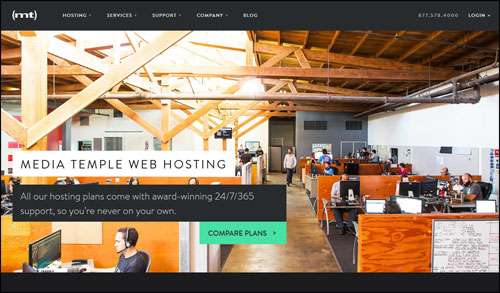Flat Website Design Example Inspiration Mediatemple image