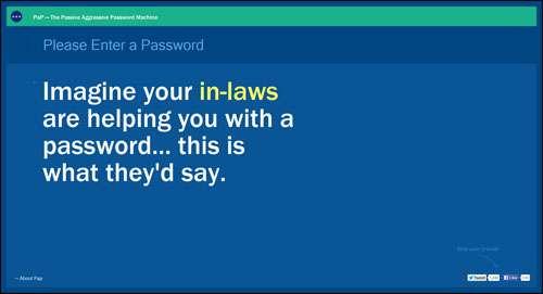 Passive Aggressive Password Machine Flat Web Design Example image
