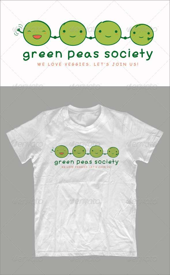Green Peas Society - T-shirt - Funny Designs