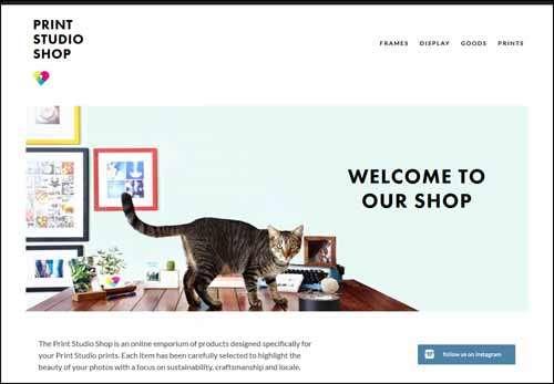 Print Studio Shop Flat Web Design Example image