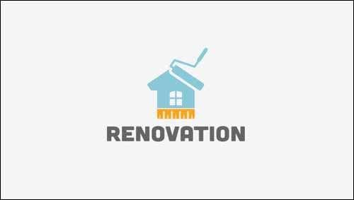 Logo Design Ideas Free three color free photoshop logo Renovation Time Free Flat Logo Design