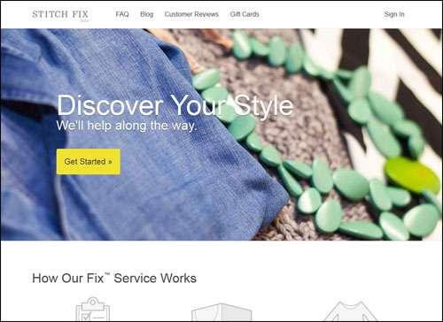 Stitch Fix Flat Web Design Example image