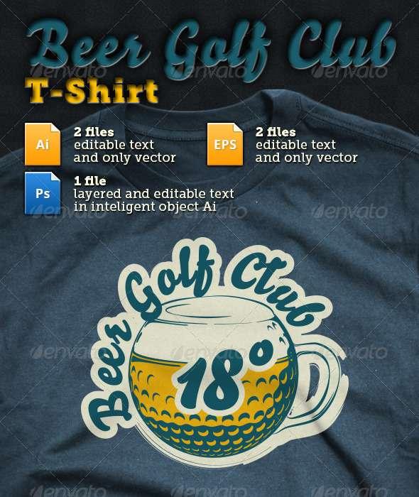 Beer Golf Club T-shirt - T-Shirts