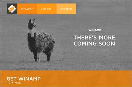 Winamp Flat Web Design Example image