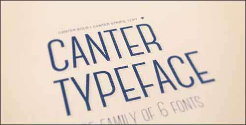 canter free font image