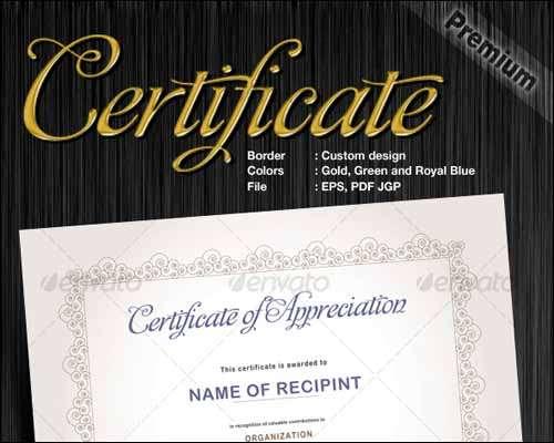certificates design