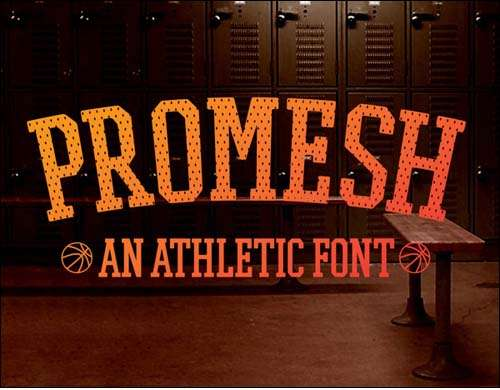 free font promesh a free athletic font image