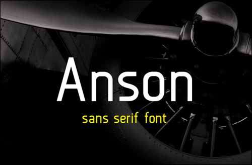 free fonts anson image