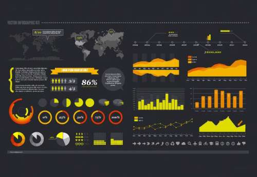 Graphs, Charts & Icons Graphic Kit