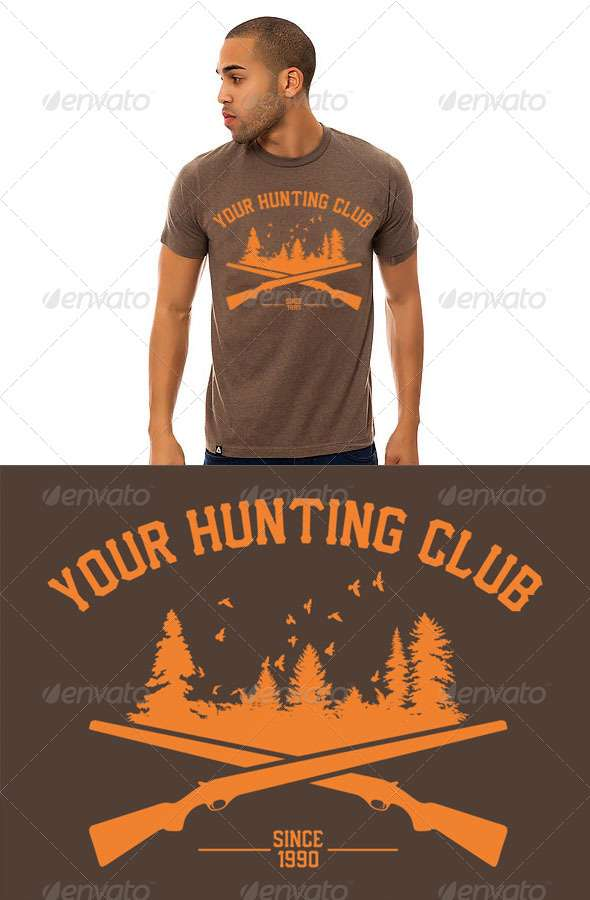 Custom Hunting Club T-Shirt Design - Sports & Teams T-Shirts