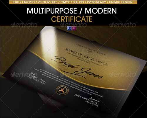 25 Most Popular Certificate Diploma Templates 2014 : Freakify.com