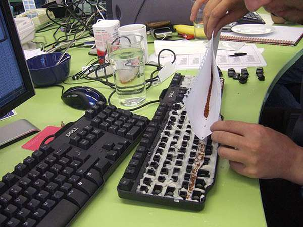 1.) Plant a garden in a coworker's keyboard