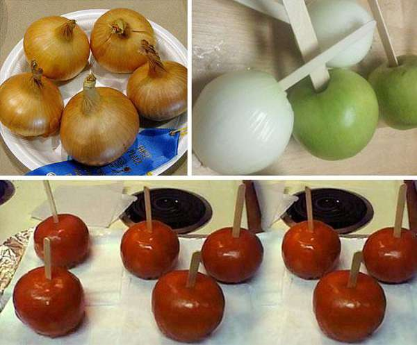 18.) Create a truly evil candy apple prank