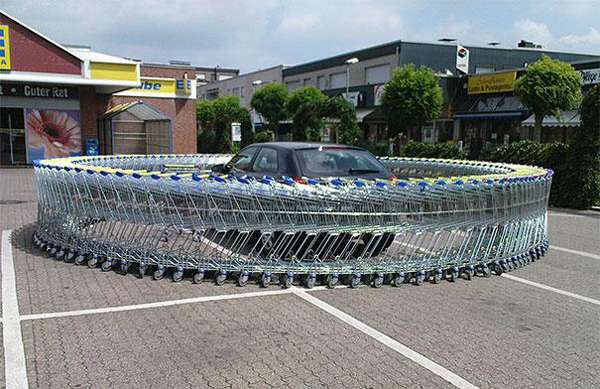 6.) Circle the shopping cart wagons
