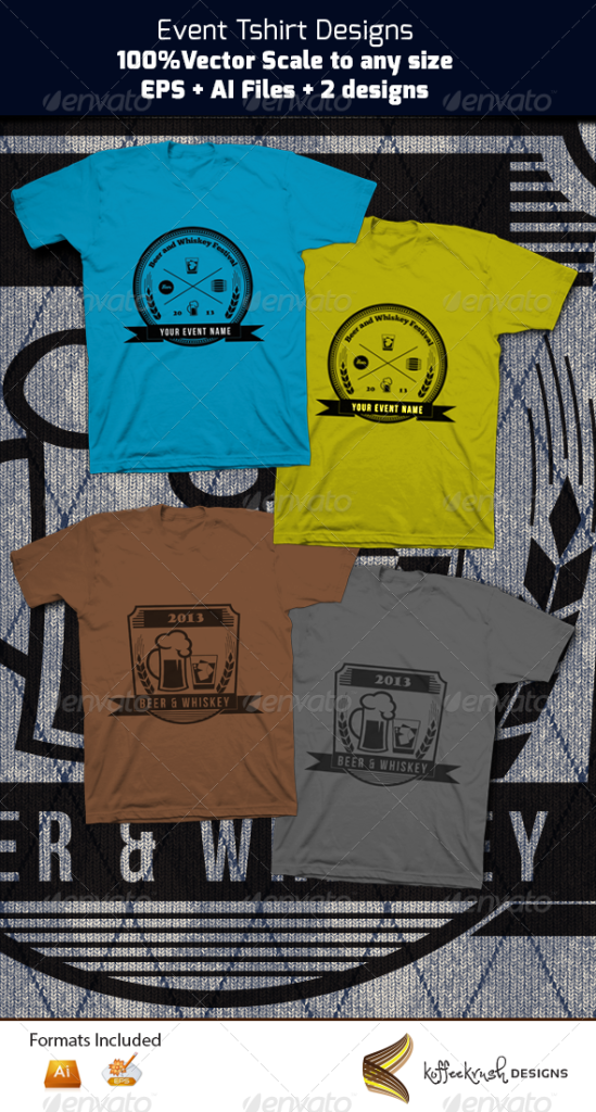 Beer and Whiskey Festival Tees - Events T-Shirts